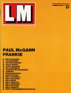 LM Issue 1, February 1987, outer cover
